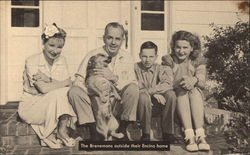 The Brenemans Outside Their Encino Home