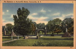 The Entrance to Auriesville Shrine Postcard