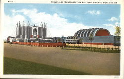 Travel and Transportation Building, Chicago World's Fair Postcard
