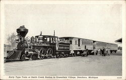 Early Type Train at Smith Creek Station in Greenfield Village