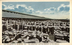 Cotton Wharf - The Greatest Cotton Market in the World