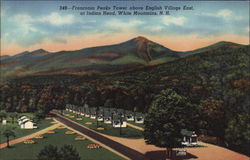 Franconia Peaks Tower above English Village East, at Indian Head
