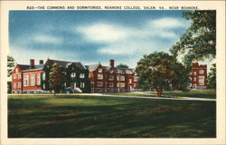 The Commons and Dormitories, Roanoke College Postcard