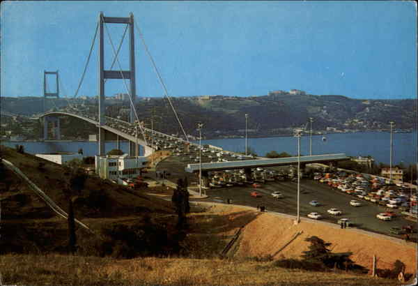 Bosphorus Bridge from Beylerbeyi Village Istanbul Turkey