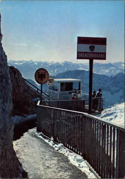 Border Crossing the Zugspitze at 2966m Germany