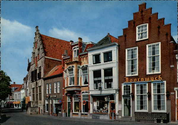 Street of Old Shops and Houses Zierikzee Netherlands