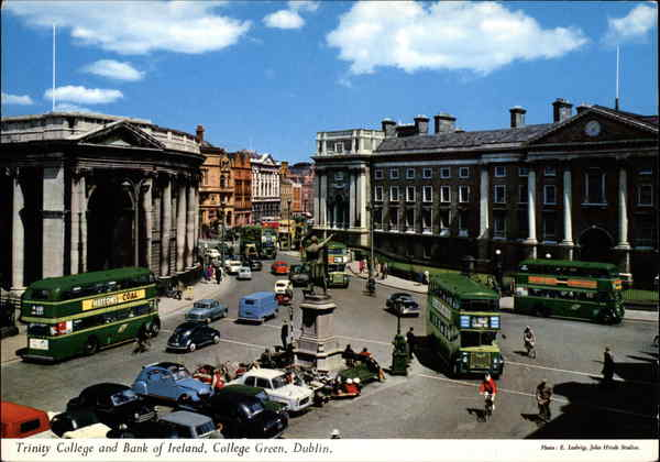 Trinity College and Bank of Ireland, College Green Dublin