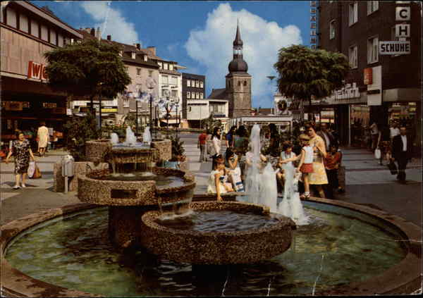 Street Scene and Fountain Remscheid Germany