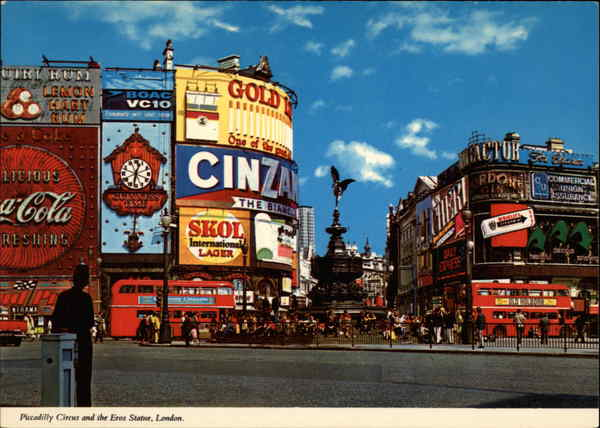 Piccadilly Circus and the Eros Statue London United Kingdom