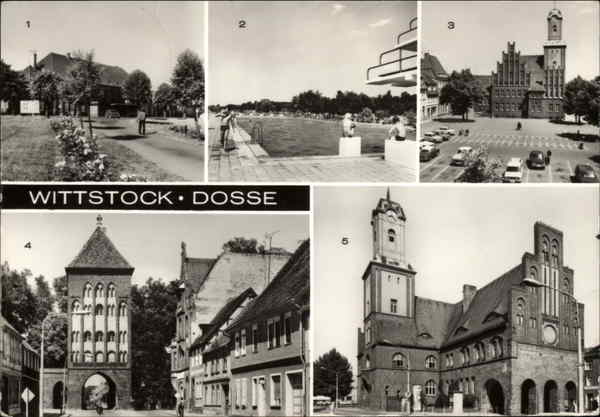 Various Views of Town Wittstock Germany