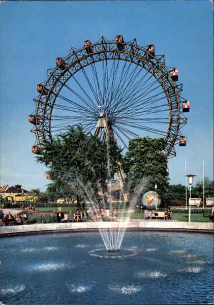 The Prater Park of Amusement with Gigantic Wheel Vienna Austria
