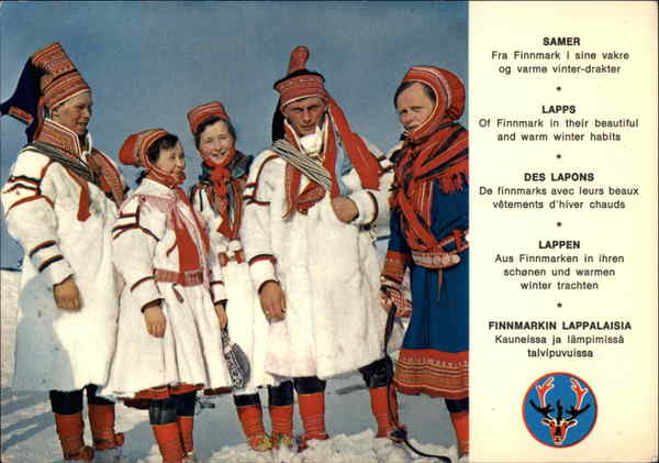 Lapp Costumes from Finnmark Norway