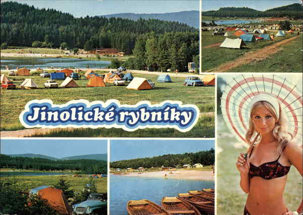 Lake and Campgrounds Rybníky Czech Republic Eastern Europe