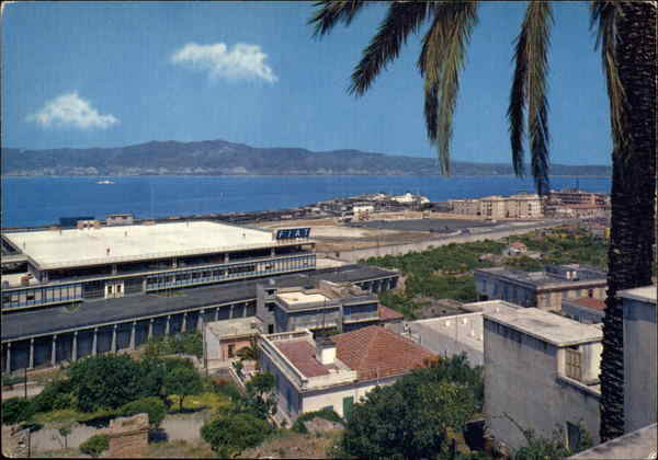 A view of the Straits Villa San Giovanni Italy