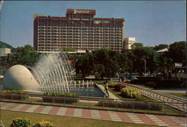The Imperial Hotel and Fountain of The National Theatre Singapore
