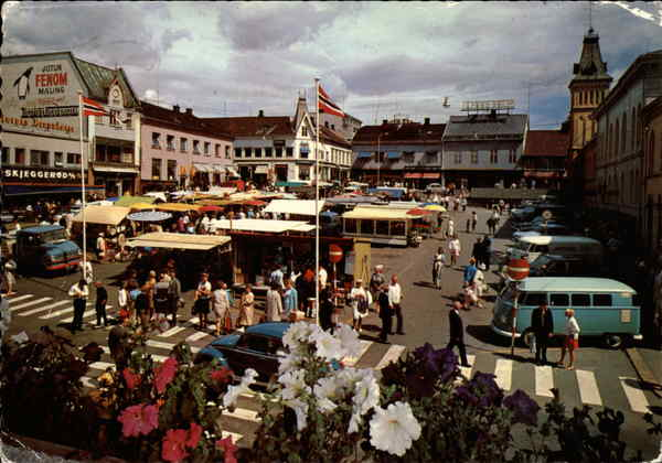 Tonsberg Norway  City new picture : Town Square and Market Tonsberg, Norway