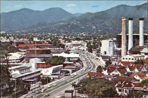 Wrighton Road as seen from the Holiday Inn Port of Spain Republic of Trinidad and Tobago