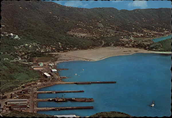 Aerial View of Submarine Base St. Thomas Virgin Islands