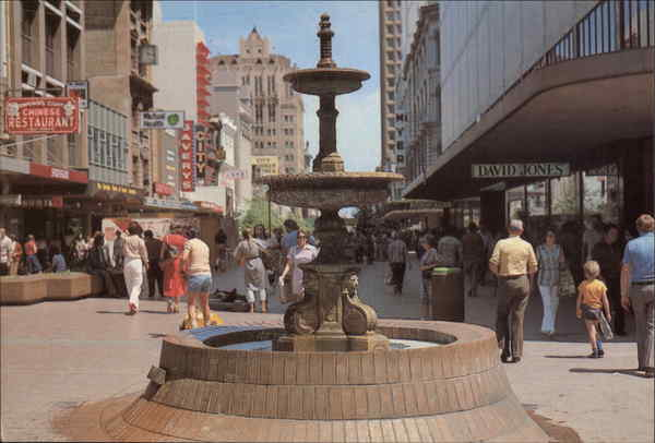 Rundle Mall Fountain Adelaide Australia