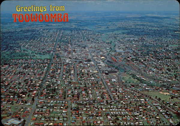 Aerial View Looking South Toowoomba Australia