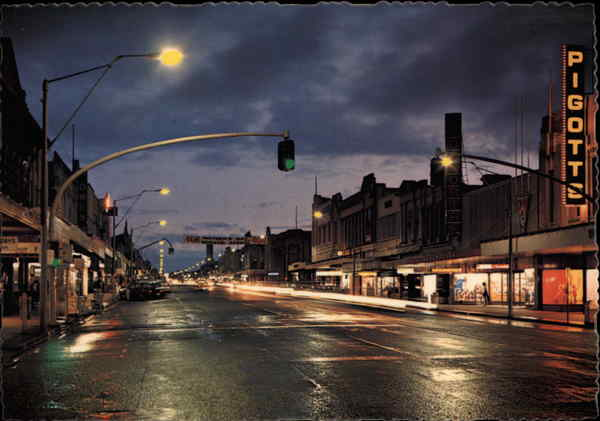Ruthven Street at Night Toowoomba Australia