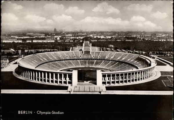 Aerial View of Olympic Stadium Berlin Germany