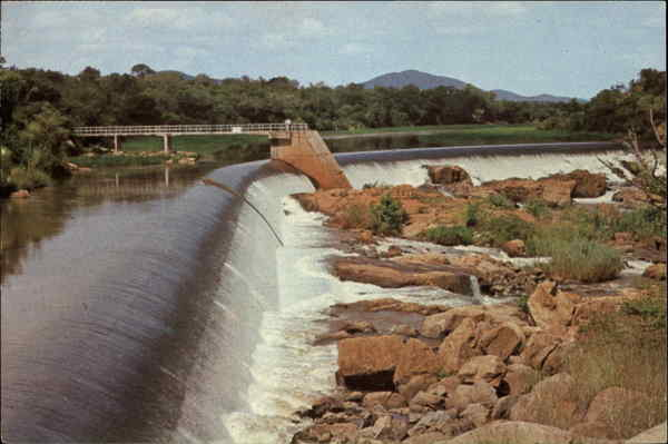 Weir over the Komati River Swaziland Africa