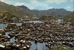 Aberdeen, the Famous Fishing Area of Hong Kong Postcard
