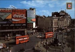 Piccadilly Circus and Statue of Eros Postcard