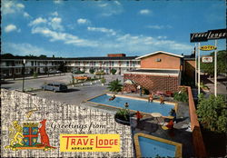 Greetings from TraveLodge in Adelaide, South Australia Postcard