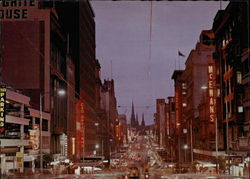 Bustling Bourke St. at Dusk