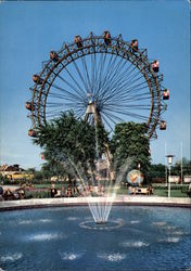 The Prater Park of Amusement with Gigantic Wheel