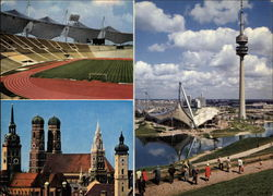 Olympic Stadium, Olympic Park, Skyline of the City Postcard