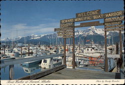 Boat Harbor at Seward, Alaska Postcard