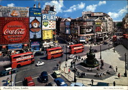 Piccadilly Circus Postcard