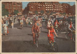 Cyclists on the Town-Hall Square