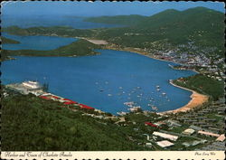 Harbor and Town - St. Thomas Postcard