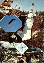 The Holmenkollen Ski Jump in Oslo, Norway