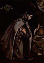 St, Francis Venerating The Crucifix by El Greco