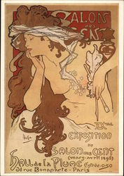 Poster Salon des Cent 1896 by Alfons Mucha