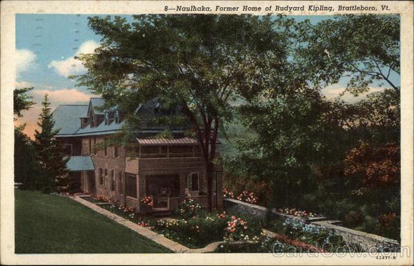 Brattleboro Vermont VT Naulhaka Home of Rudyard Kipling