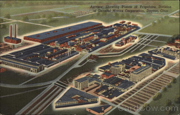 Airview Showing Plants of Frigidaire Division of General Motors Corporation Dayton Ohio