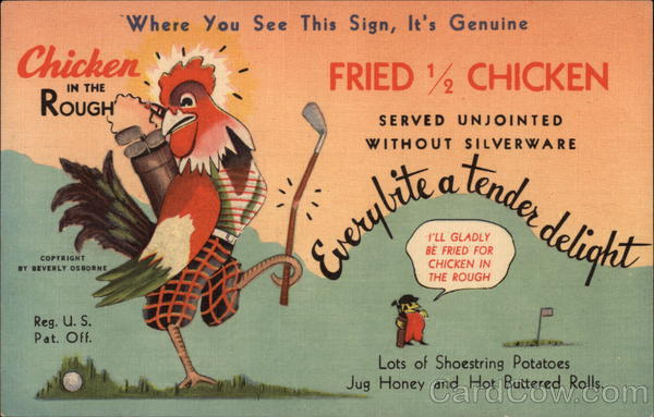 Chicken in the Rough Advertising Golf