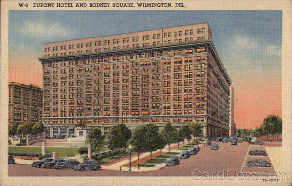 Dupont Hotel and Rodney Square Wilmington Delaware