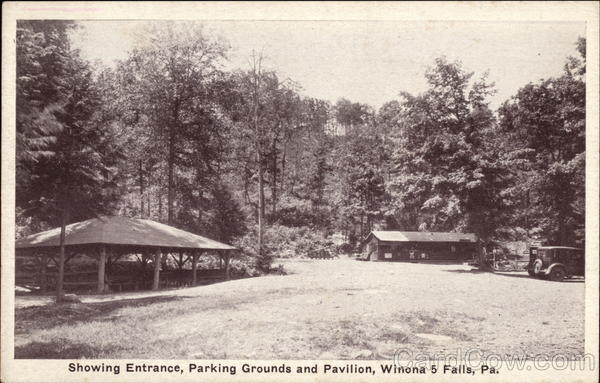 Entrace, Parking Grounds and Pavilion Winona Falls Pennsylvania