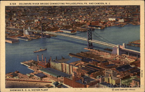 Delaware River Bridge Connecting Philadelphia, Pa. and Camden, N.J Pennsylvania