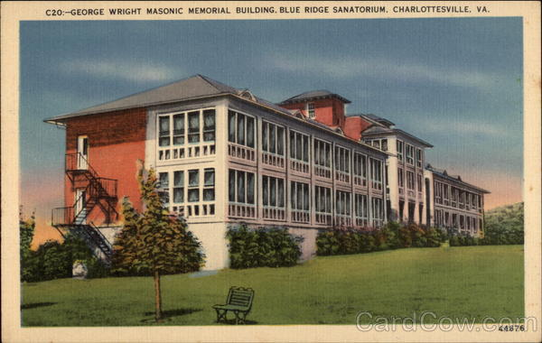 George Wright Masonic Memorial Building, Blue Ridge Sanatorium Charlottesville Virginia