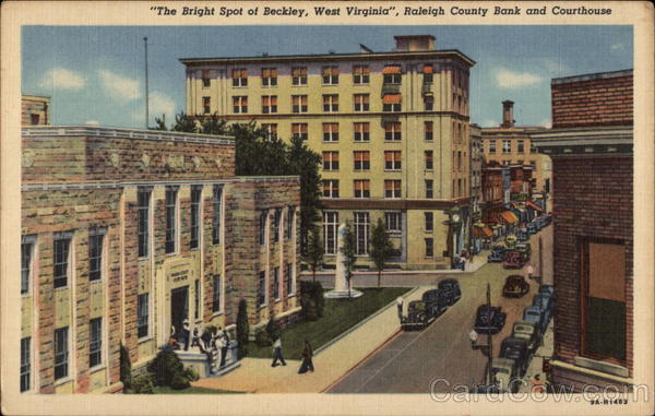 Raleigh County Bank and Courthouse Beckley West Virginia