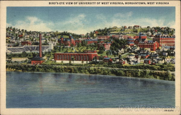 Bird's-Eye View of University of West Virginia Morgantown