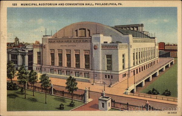 Municipal Auditorium and Convention Hall Philadelphia Pennsylvania